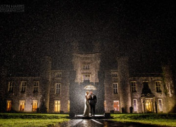 Wedding photography Hensol castle in the rain