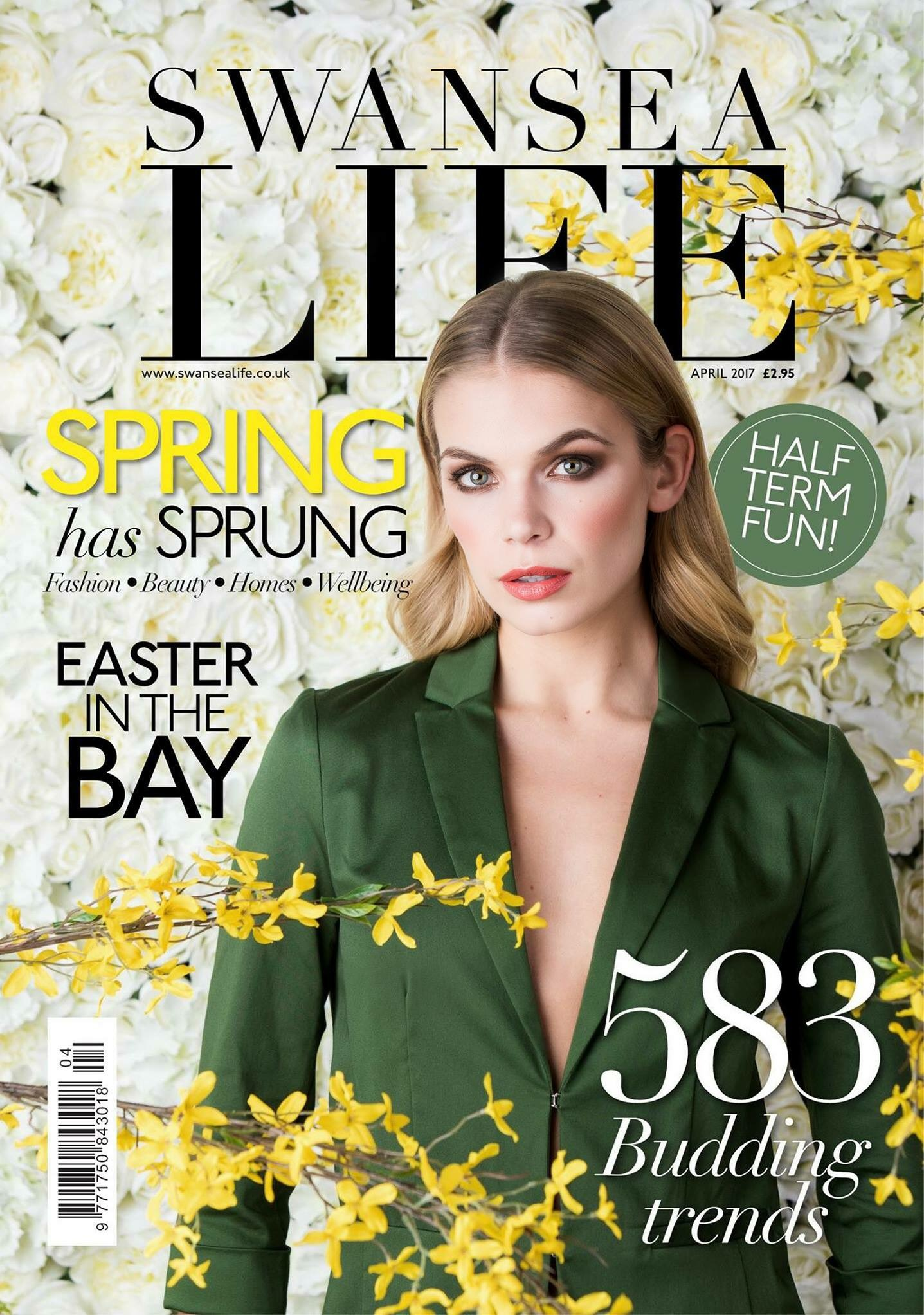 magazine spring editorial front wm shoot harris justin swansea flowers photographer glossy pink portrait